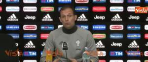 Vigilia di Napoli-Juventus, Allegri carica Higuain (video)
