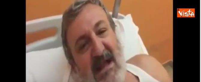 """Emiliano in canottiera dall'ospedale: """"Ecco cosa ho capito…"""" (video)"""