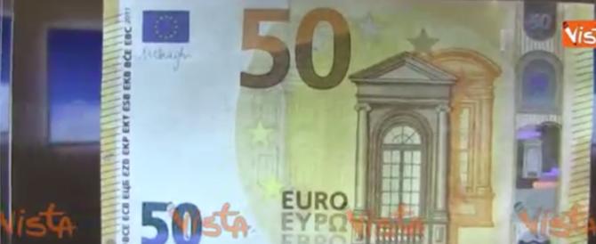Sfida aperta ai falsari: ecco la nuova banconota da 50 euro (video)