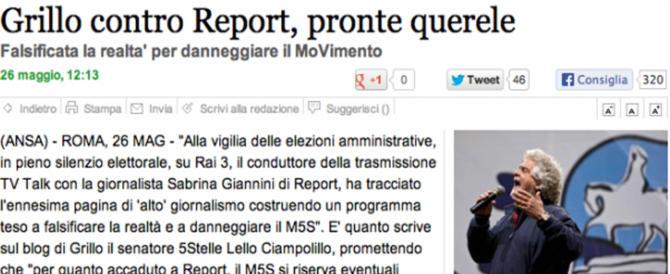 """Grillo difende """"Report"""" ma in passato si era scatenato contro la Gabanelli…"""