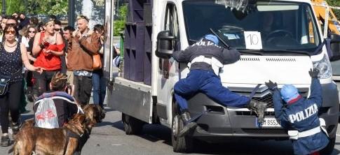 Torino, poliziotti-fantoccio travolti dal furgone anarchico. Insorgerà Boldrini?