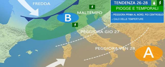 Dopo il 25 aprile tornano piogge e temporali, temperature in forte calo