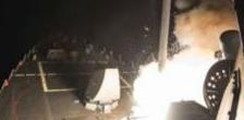 Raid in Siria, ecco le spettacolari immagini del lancio dei missili (video)