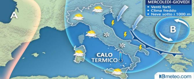 Previsioni meteo, anche il tempo fa il ribaltone: torna il freddo