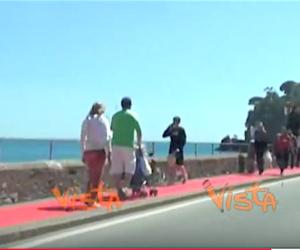 Il tappeto rosso dei record: 8,5 km (a costo zero) da Rapallo a Portofino (video)