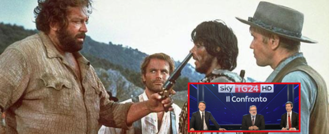 """Renzi-Orlando-Emiliano, ascolti flop. Bud Spencer distrugge la """"trinità"""" del Pd"""