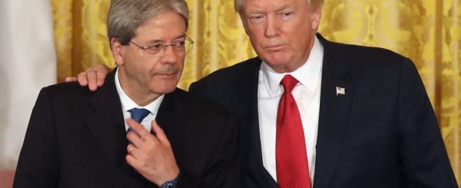 Trump ridicolizza Gentiloni: «Per la Nato deve pagare di più. E lui pagherà»