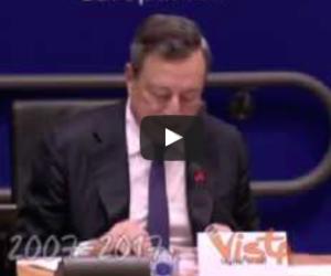 Draghi a sorpresa: «I Trattati europei non sono tabù intangibili» (video)