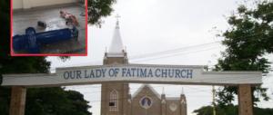India, folla inferocita distrugge la chiesa di Fatima e devasta la Madonna