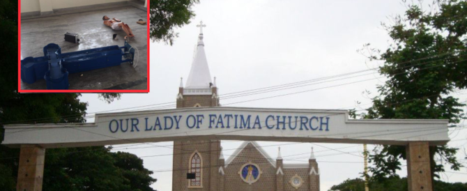 India, folla inferocita distrugge la chiesa di Fatima e devasta la Madonna