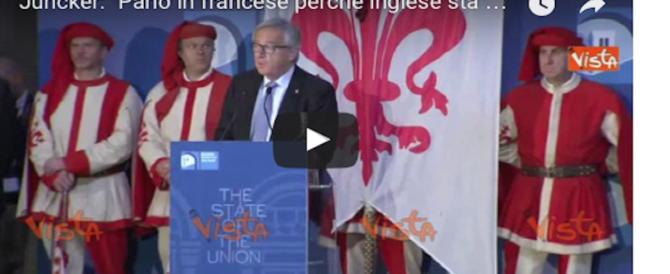 """Juncker fa i dispettucci alla May: """"Parlo francese. L'inglese perderà importanza"""" (video)"""