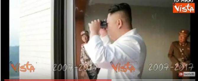 Kim Jong Un assiste al lancio del missile e si fa una risata (video)
