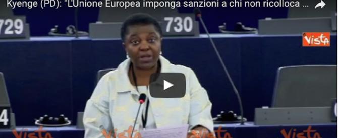 Riecco la Kyenge: «Chi non accoglie i migranti dev'essere punito» (video)