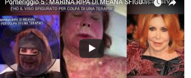 """Marina Ripa di Meana col volto sfigurato: """"La chemio mi ha ridotta così"""" (video)"""