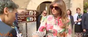 G7, Melania Trump si veste di fiori e fa impazzire ancora i suoi fans (video)