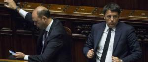 Rissa Pd-Ap. Alfano: «Renzi fa cadere i governi». Matteo: «Angelino teme il 5%»