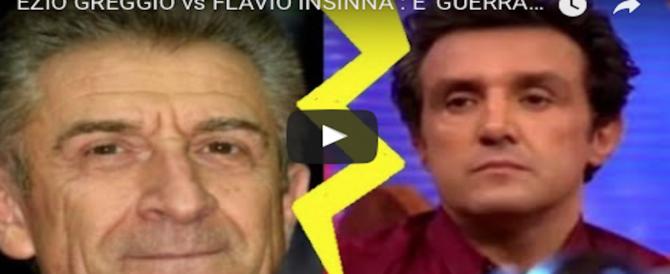 Striscia contro Insinna e ora Insinna contro Ezio Greggio: è guerra totale (2 VIDEO)