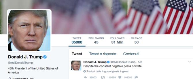 Ma che voleva twittare Trump con covfefe? Un refuso, e il sospetto diventa virale…
