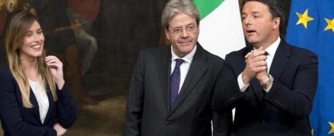 """Povero Gentiloni, commissariato dalla Boschi: """"Su ogni atto decide lei"""""""