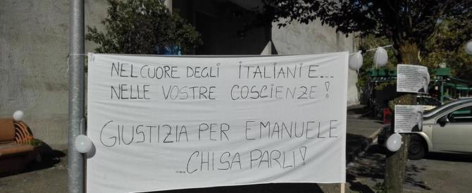Emanuele Morganti, sit in al tribunale di Frosinone per chiedere giustizia