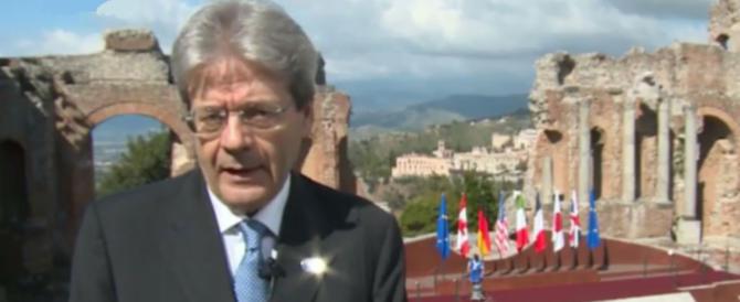 """G7, Gentiloni alla fiera delle vanità: """"Confidiamo nello spirito di Taormina"""""""