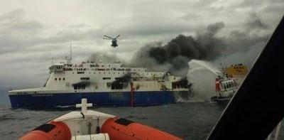 Olbia, incendio a bordo di un traghetto: 82 passeggeri soccorsi in mare