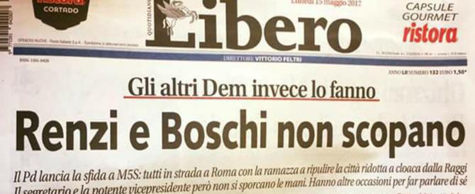 """""""Renzi e Boschi non scopano"""": bufera per un titolo di """"Libero"""""""