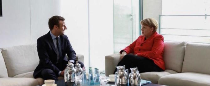 Macron alla Merkel: imitiamo Trump, difendiamo lavoratori e imprese