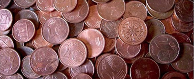 Dal 2018 stop alle monetine da 1 e 2 cent. Ecco perché è una pessima notizia…