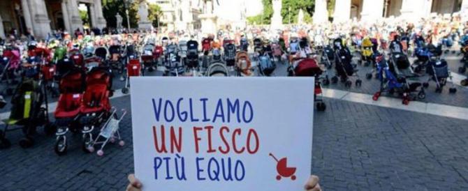 Passeggini vuoti: in piazza per sostenere famiglie (e figli) di italiani
