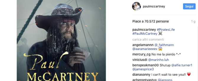 "Paul McCartney si scopre filibustiere: è nel cast di ""Pirati dei Caraibi"" (video)"