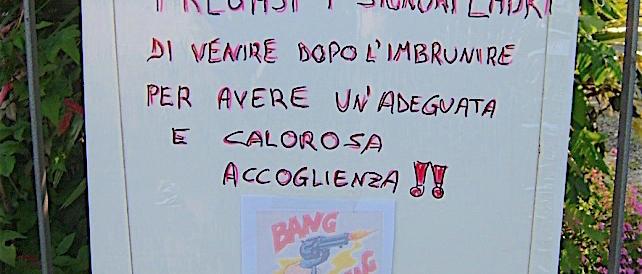 """Treviso, la sfida alla criminalità: """"Ladri, una calorosa accoglienza: bang, bang"""""""