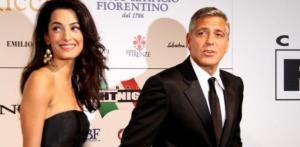 Clooney e Amal in Italia