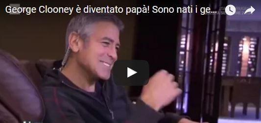 """Tra un comizio anti Trump e l'altro, Clooney diventa papà """"social"""" (VIDEO e FOTOGALLERY)"""