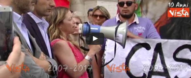 Giorgia Meloni contro Alfano: «Lui è il massimo rappresentante dello ius sòla»