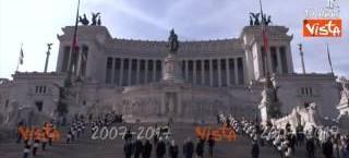 2 giugno, Mattarella al Vittoriano ringrazia Forze Armate e Protezione civile (video)