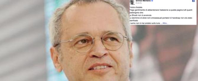 """Mentana contro i webeti: """"Via dalla mia pagina Fb chi nega lo sbarco sulla Luna»"""