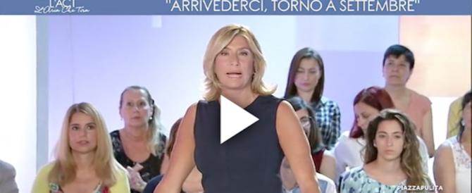 """""""L'Aria Che Tira"""", Myrta Merlino in lacrime: «Lascio, ho un problema» (video)"""