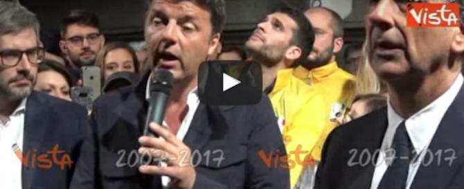 Figuraccia di Renzi: fa l'ecologista in piazza e gli ambientalisti lo fischiano (video)