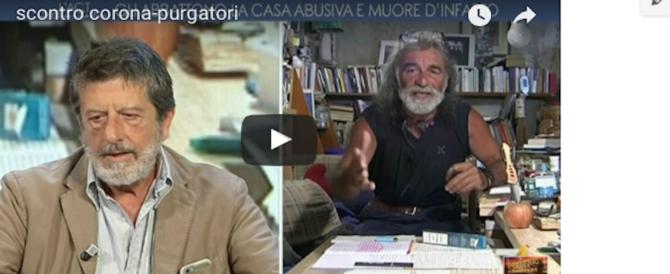 Rissa tv, Corona scatenato contro Purgatori: l'imbarazzo di Parenzo (video)