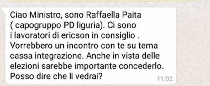 L'antifascista doc Paita scrive al ministro e sbaglia: si vota, aiuta gli operai