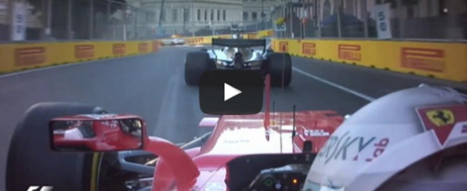 "Pazza Formula 1: lite in pista, Vettel ""sperona"" Hamilton (video)"