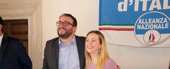 "L'Aquila espugnata da Fratelli d'Italia. Meloni: ""Italiani 1, Renzi zero"""