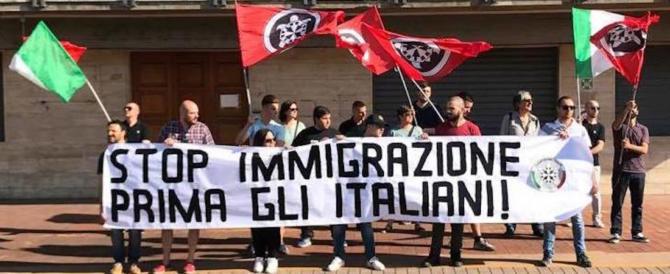 Marcia di CasaPound per gli italiani. Gli antifascisti di Sel: vietatela e sciogliete Cpi