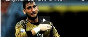 """Le 10 parate più belle del """"traditore"""" Donnarumma (video)"""