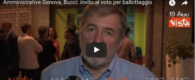 Bucci invita al ballottaggio: «Genova vuole cambiare e pensa al futuro» (Video)