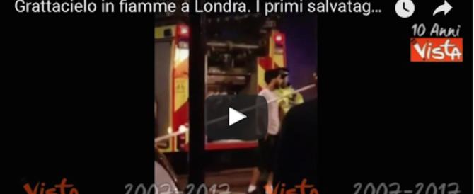 Almeno 6 i morti nell'incendio della Grenfell Tower a Londra (video)
