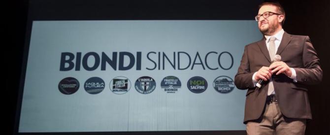 Elezioni, con Biondi L'Aquila si fa «modello nazionale». Parola di Berlusconi