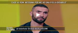 Berlusconi si commuove per la bimba sfrattata e telefona a Quinta Colonna (VIDEO)