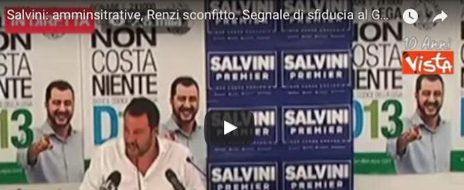 Salvini: «Il vero sconfitto è Renzi, il governo Gentiloni non è credibile» (Video)